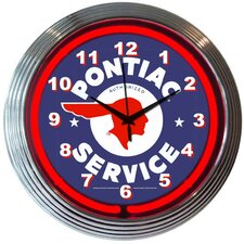 """Cars and Motorcycles 15"""" Pontiac Service Wall Clock"""