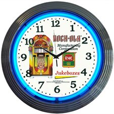 """Retro 15"""" Rock-Ola Wall Clock"""