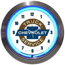 """Cars and Motorcycles 15"""" Chevy Truck Wall Clock"""
