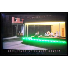 Retro Boulevard of Broken Dreams Neon LED Framed Vintage Advertisement