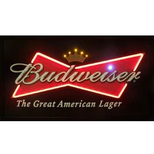 Budweiser Bowtie Neon LED Poster
