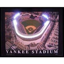 Sports Yankee Stadium Neon LED Framed Photographic Print