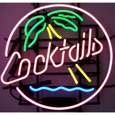 Business Signs Cocktails & Palm Tree Neon Sign