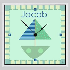 "Ship Personalized 11"" Art Wall Clock"
