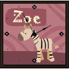 "Zebra Personalized 11"" Art Wall Clock"