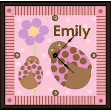 """Ladybugs Personalized 11"""" Art Wall Clock"""