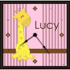 """Yellow Giraffe Personalized 11"""" Art Wall Clock"""