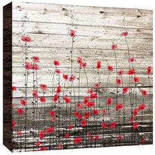 Little Flowers Painting Print on Wood