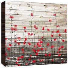 Little Flowers Painting Print on Wood