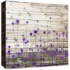 Little Flowers Painting Print in Purple