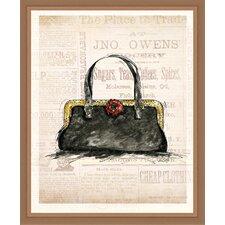 Black Purse Framed Painting Print