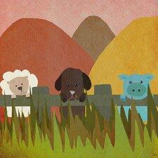 Farm Little Animals II Canvas Art