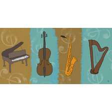 Musical Instruments 1 Painting Print on Wrapped Canvas