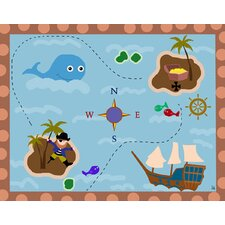 Pirate and Treasure Canvas Art