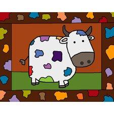 Colorful Cow Canvas Art