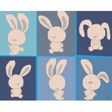 Yoga Bunnies Canvas Art