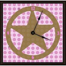 "Lone Star 20"" Girl Art Wall Clock"