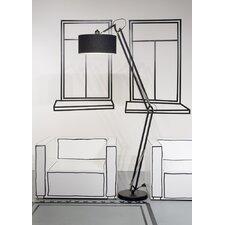 235 cm Design-Stehlampe Milano