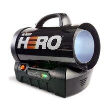 35,000 BTU Portable Propane Forced Air Utility Heater with Flame Sensor