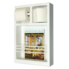 On The Wall Magazine Rack with Toilet Paper Combo