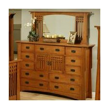 Bungalow 11 Drawer Combo Dresser with Mirror