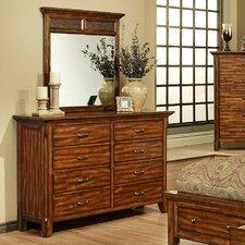 Marissa County 8 Drawer Dresser with Mirror