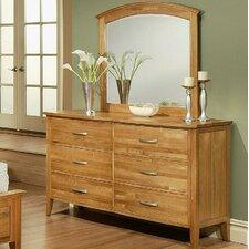 Firefly 6 Drawer Dresser with Mirror