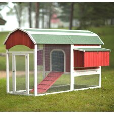 Large Barn Chicken Coop with Roosting Bar