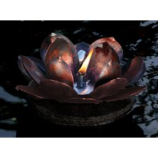 Metal Floating Lotus Torch