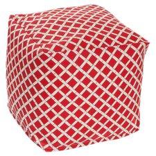 Bamboo Bean Bag Cube Ottoman