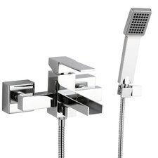 Single Handle Wall Mounted Tub Filler Trim with Hand Shower