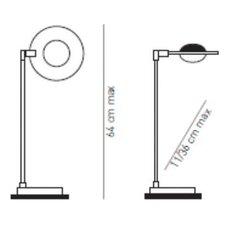 64 cm Tischleuchte Bebop