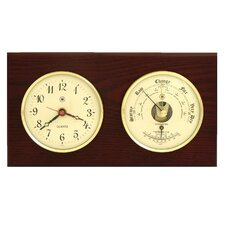 Wall Clock with Barometer and Thermometer