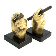 Cigar in Hand Bookends (Set of 2)