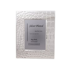 Croco Silver Plated Picture Frame
