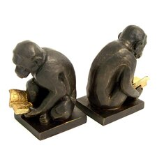 Monkey Book Ends (Set of 2)