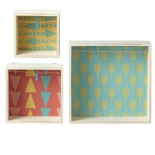 3-Piece Shadow Box with Clip Picture Frame Set (Set of 3)