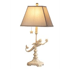 "Mermaid 27.5"" H Table Lamp with Square Shade"