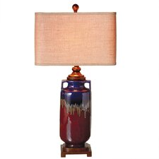 "Reactive Glaze 33"" H Table Lamp with Rectangular Shade (Set of 2)"