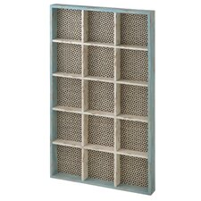 Wall Shelf with Woven Pattern Background
