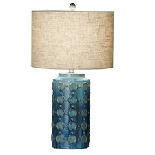 "Circle Reactive Glaze 27"" H Table Lamp with Drum Shade (Set of 2)"
