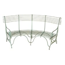Distressed Curved Garden Bench