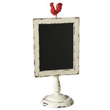 Bloom Rooster Chalkboard on Stand
