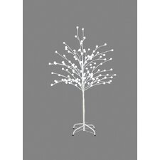 Holiday Shines Lighted LED Pom-Pom Tree with 120 Lights