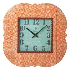 Bloom Orange Pattern Wall Clock