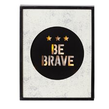 "Dream Big Lighted LED ""Be Brave"" Wall Décor"" Framed Wall Art"