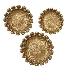 Toscana 3 Piece Golden Flower Wall Décor Set