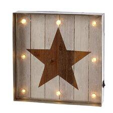Home Away Galvanized Framed Lighted Star Wall Décor