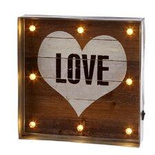 "Home Away Galvanized Framed Lighted ""Love"" Heart Wall Décor"