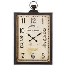 Victory Rectangle Pocket Watch Wall Clock